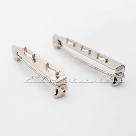 Nickel Plated Brooch Fittings with Prongs